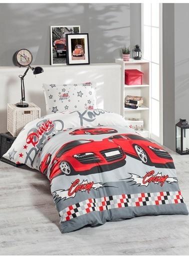 Eponj Home Junior Nevresim Seti Tek Kişilik Crazy Kırmızı Kırmızı